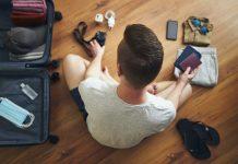 traveler is preparing for travel in new normal