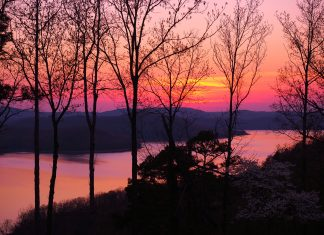 ozarks lake-sunset