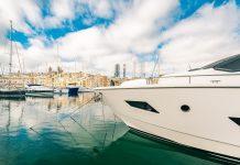 Luxury yacht in Malta marina